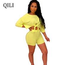 Женский комплект qili с длинным рукавом летняя одежда комбинезоны