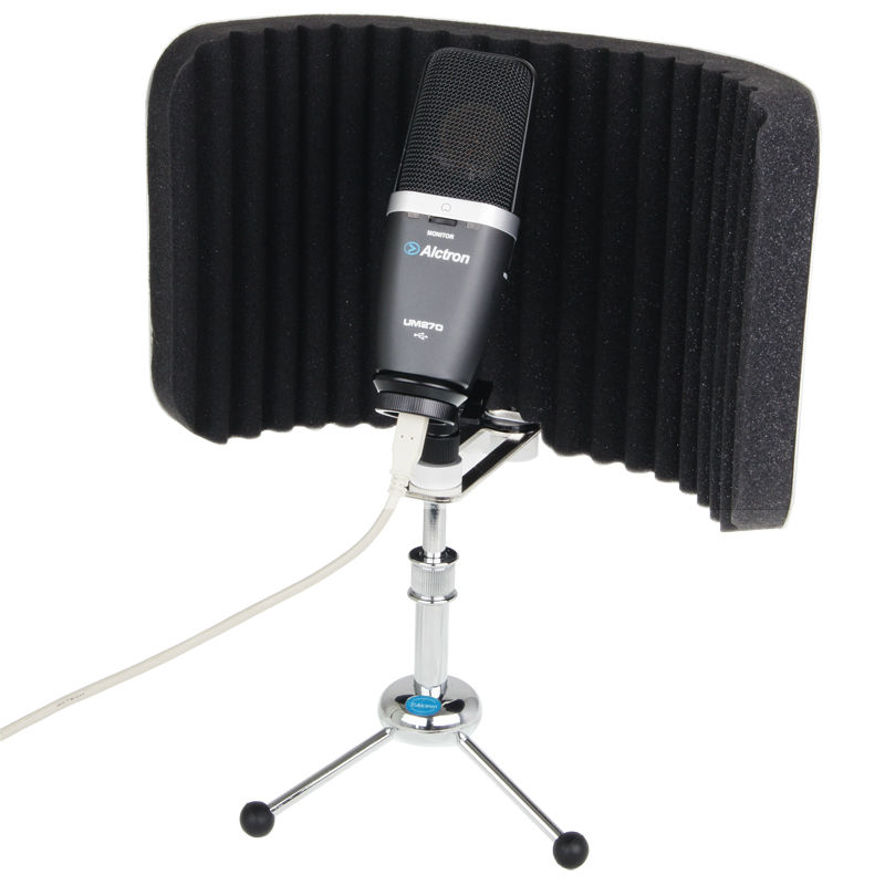 Alctron PF58 Professional Desktop Mic Screen Studio Mic Screen, Mic isolation Shield, Acoustic Diffuser Screen