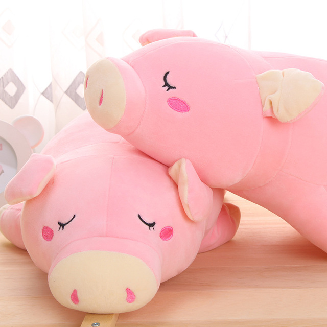 Cute 50cm Papa Pig pillow Plush Toys Doll Toy creative pink pig children toy