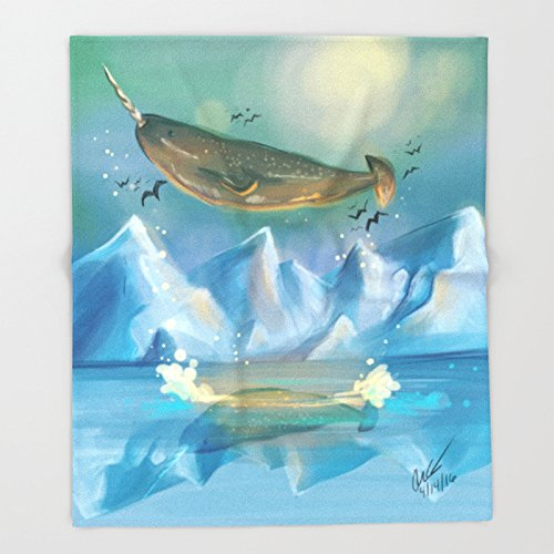 Flying Narwhals Throw Blankets 51 x 60 Blanket Throw on Sofa Bed Plane Plaids Solid Bedspreads Home Textile