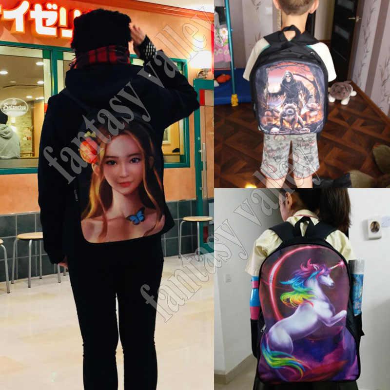 Смешной Единорог для верховой езды T-rex Dinosaur рюкзак для подростков мальчиков и девочек школьные сумки Звездная ночь Рюкзак Дети Книга сумка