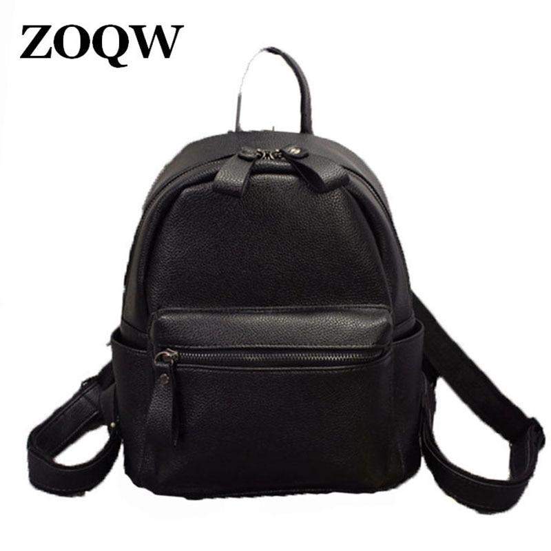 2018 Fashion European Style PU Leather Backpack Women Travel Casual  Backpacks Hot Sale Teenage Girls School aa9357e4da