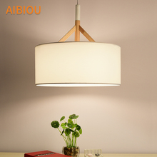 AIBIOU LED Pendant Lights For Dining Restaurant Lamp with Drum Lampshade E27 Bar Light Kitchen Drop Lighting Fixtures
