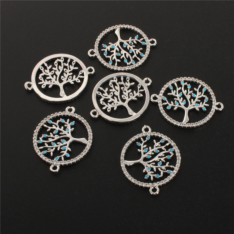 High Quality Silver Color Tree of life Necklace Pendant Replace  Pendants (1)