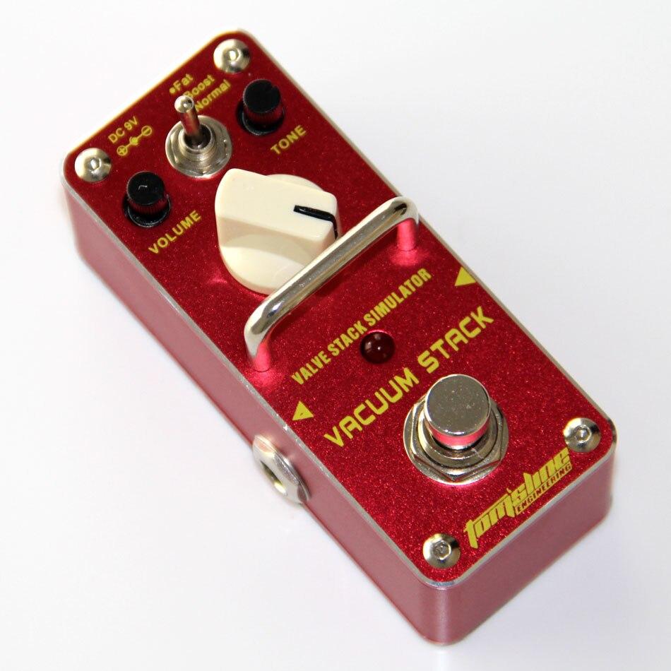 Aroma AVS-3 pile de Valve simulateur effet guitare Tube de pédale distorsion ton d'une Valve Combo amplificateur pédale de guitare véritable contournement