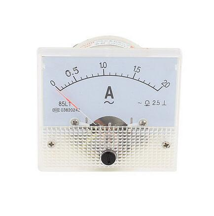 85L1-A Class 2.5 Accuracy AC 0-2A Analog Panel AMP Meter