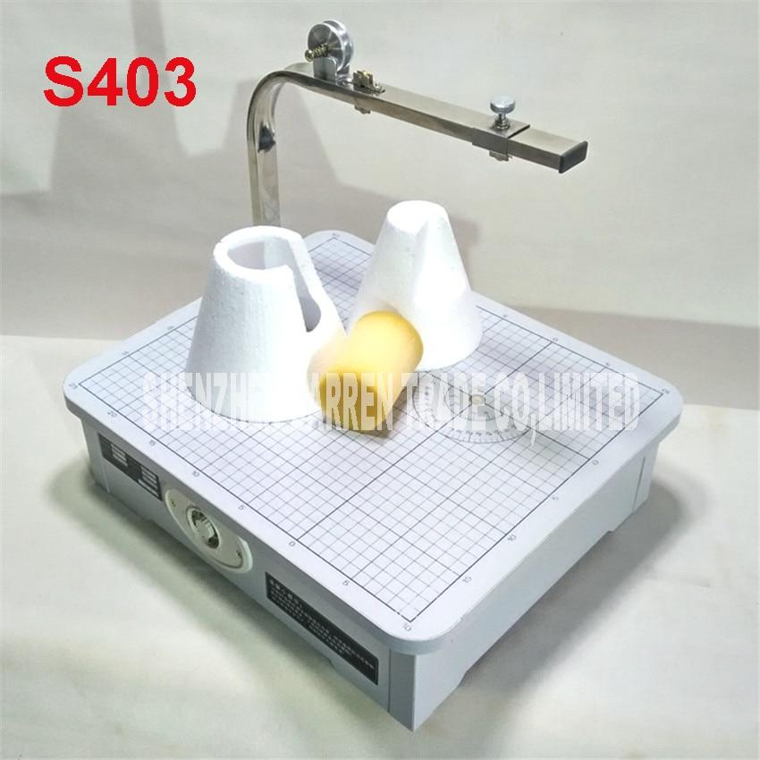 S403 High Quality 220 V Hot wire foam cutter foam cutting machine tool table desktop foam cutting machine цена 2017