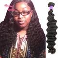 1 Bundle Loose Deep Human Hair Weaves 7A Halo Lady Hair Products 100 Gram Peruvian Loose Deep Wave Unprocessed Hair Weaves