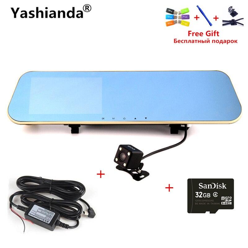 Yashianda 4.3 Inch Car DVR Camera Review Mirror HD 1080P LED Display Waterproof Night Vision Parking Monitor Vehicle DVR Camera
