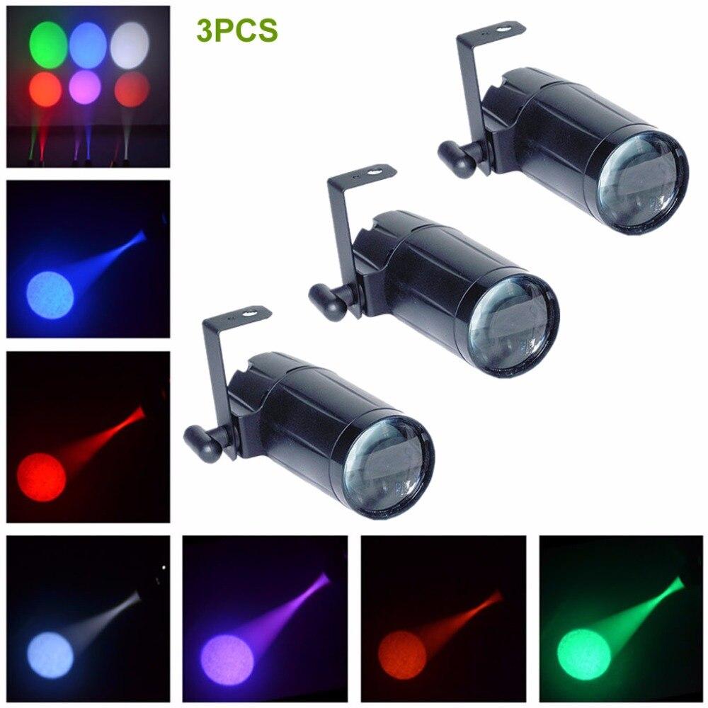 AUCD 3PCS / Lot Mini 3W Jednobarevná LED svítilna s lucernou Umělecká výzdoba Projekt Reflektory Party Domácí DJ Show Stage Track Lighting M02