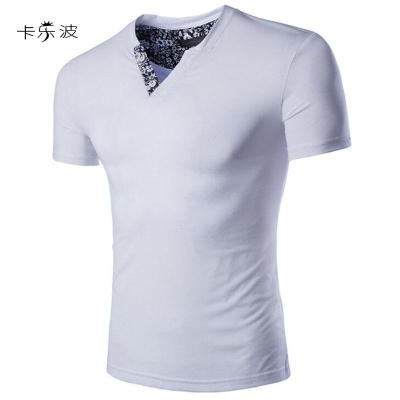 KaLeBo summer fashion men's T shirt Patchwork short ...
