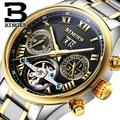 Switzerland BINGER watches men luxury brand Tourbillon sapphire luminous multiple functions Mechanical Wristwatches B8602-10