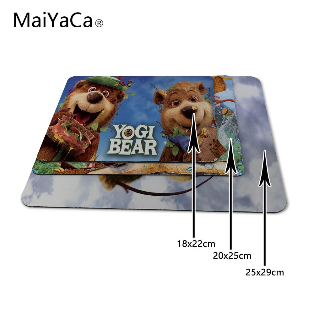 MaiYaCa Yogi Bear Movie Game Gaming Mouse Pad Mat Mousepad as Gifts Wholesale Not Lock Edge Mouse Pad