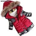 WEONEWORLD Children Jackets Winter Warm Cotton Coat Padded Boys Fur Collar Baby Down Kids Clothing Outerwear Boy Overcoat Parka