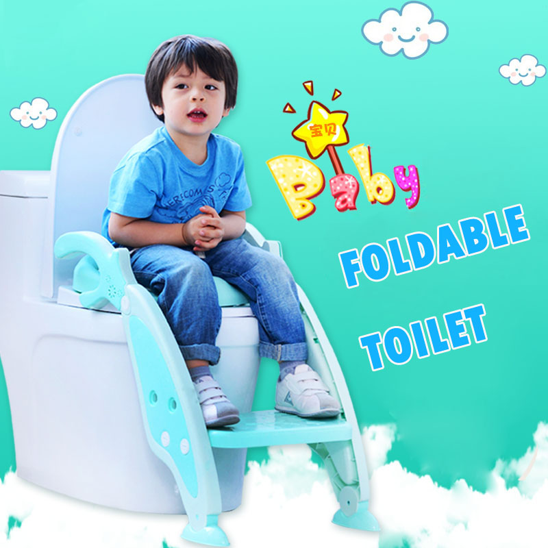 Baby With Ladder Children Seat Cover Kids Toilet Folding