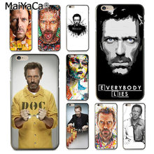 MaiYaCa Dr House Hugh Laurie Pillole Ibrida di Lusso cassa del telefono Morbida per iPhone 8 7 6 6S Plus X 10 5 5S SE 5C Coque Borsette(China)