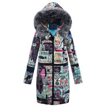 Winter jacket women Winter Long Down Cotton Ladies Parka Hooded Coat Quilted Outwear abrigos mujer invierno #20181009(China)