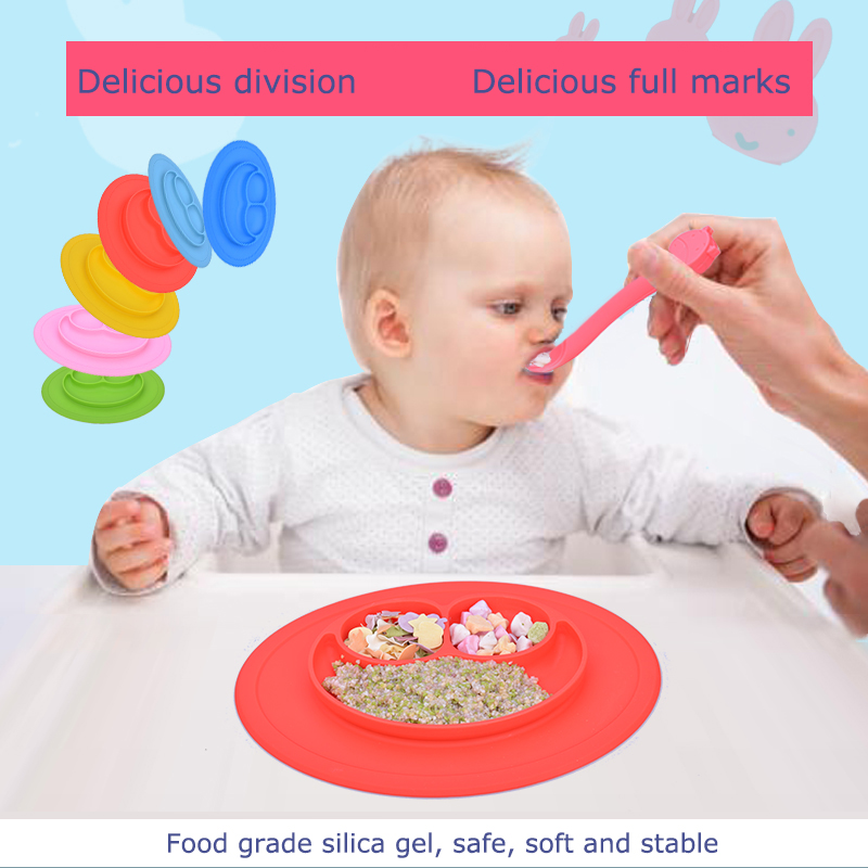 Baby Silicone Plate Solid Feeding Bowls Plates Suction Children Tableware Food Containers Anti Slip Kids Dishes Eating тарелочки constructive eating