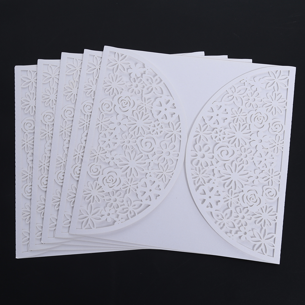 10pcs Romantic Wedding Party Delicate Carved Butterlies Invitation