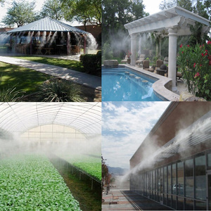 Image 5 - 6M~18M Black Garden water mist spray with Pump and Power Adapter for flowers plant greenhouse garden irrigation misting system