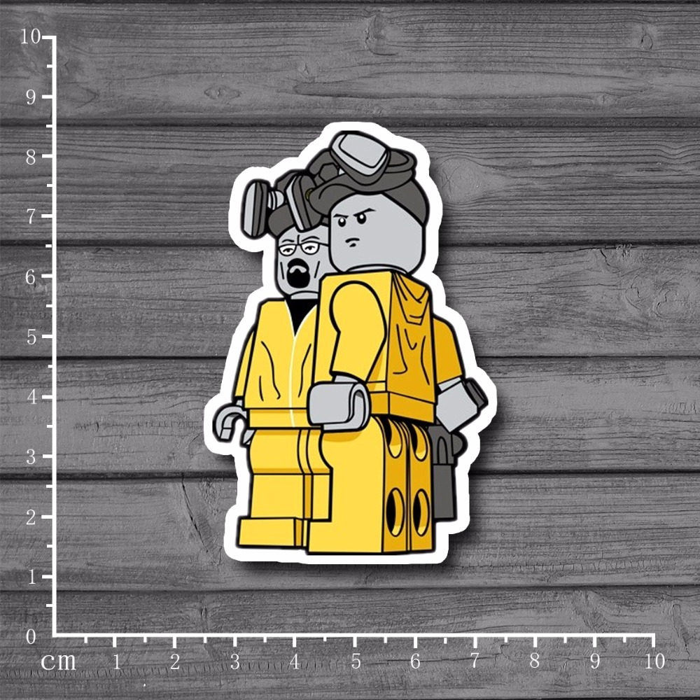 Breaking Bad Cute Cartoon Laptop Notebook Stickers Home Decor Wall Car Stlying Skateboard Sticker Kids Toys[Single]