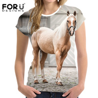 FORUDESIGNS T Shirt Women Summer Casual Female Tops Tee Shirt For Ladies Girls T Shirt Feminina