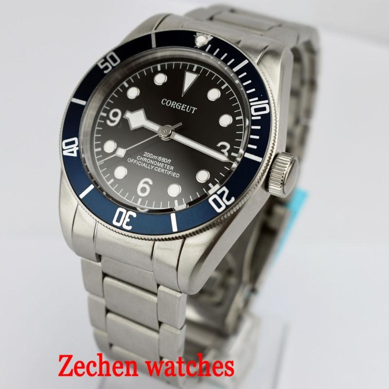 41MM Corgeut Men's Mechanical Watch Miyota Automatic Movement Sapphire Stainless Steel Waterproof Nightlight Automatic Watch цена и фото