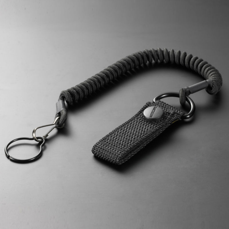 2016 Nitecore NTL20 flashlight accessories Tactical Lanyard Punched Stainless Steel Ring Safety Rope For 25.4mm Diameter Lamp