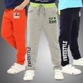 Большой мальчик брюки спортивные брюки для детей хлопка 3 цвета брюки для детей 8-16 лет бренд мальчик брюки свободного покроя перейти весна осень