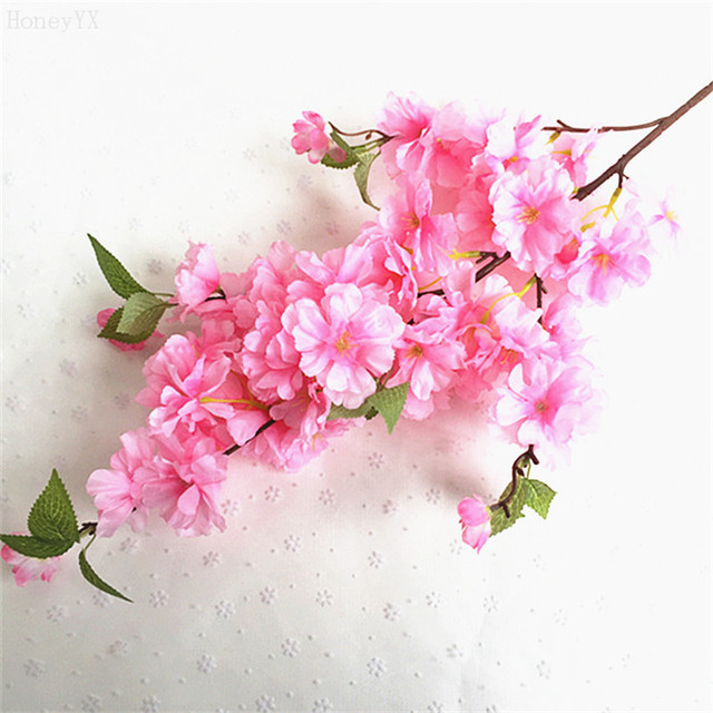 Artificial Sakura Flower Floral Bouquet Fake Flower Arrange Table ...