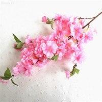Artificial Sakura Flower Floral Bouquet Fake Flower Arrange Table Home Decor Party Accessory Flores Wedding Flowe