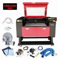 (Livraison à partir de ROYAUME-UNI) 700*500mm 80 W CO2 De Gravure Laser machine De Découpe Graveur cutter en bois couleur écran