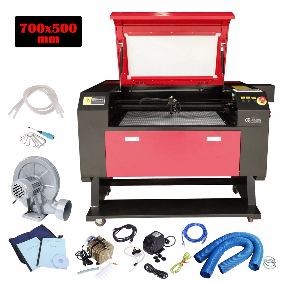 (Ship From UK) 700*500mm 80W CO2 Laser Engraving Cutting Machine Engraver Wood Cutter Color Screen