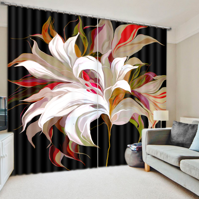 European Curtains Flower Home Curtains For Bedroom Living Room Shade 3D Curtain For Window Treatments Hotel Office