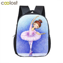 Cartoon Ballet Dancing Girl Small Backpack Children School Bags Kindergarten Backpack Baby Mini Toddler Bags Kids Book Bag Best(China)