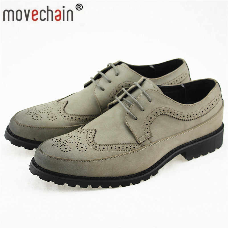 65148dc2d86 movechain Fashion Men s Leather Dress Office Lace-Up Shoes Mens Casual  Party Driving Oxfords Man