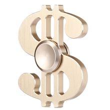 Spinner hand metal colorful US Dollar 2017 New Spinner hand fidget metal toy Figet Spiner metal fidget spinner aluminium black