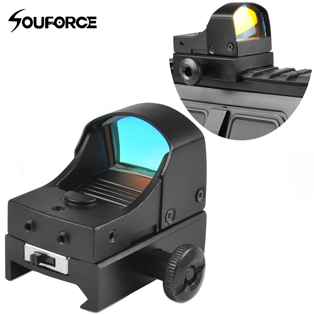 New Tactical Mini Red Dot Sight Compact Holographic Reflex Micro Red Dot Sight Scope Rifle&Pistol for Airsoft tactical mini micro reflex red