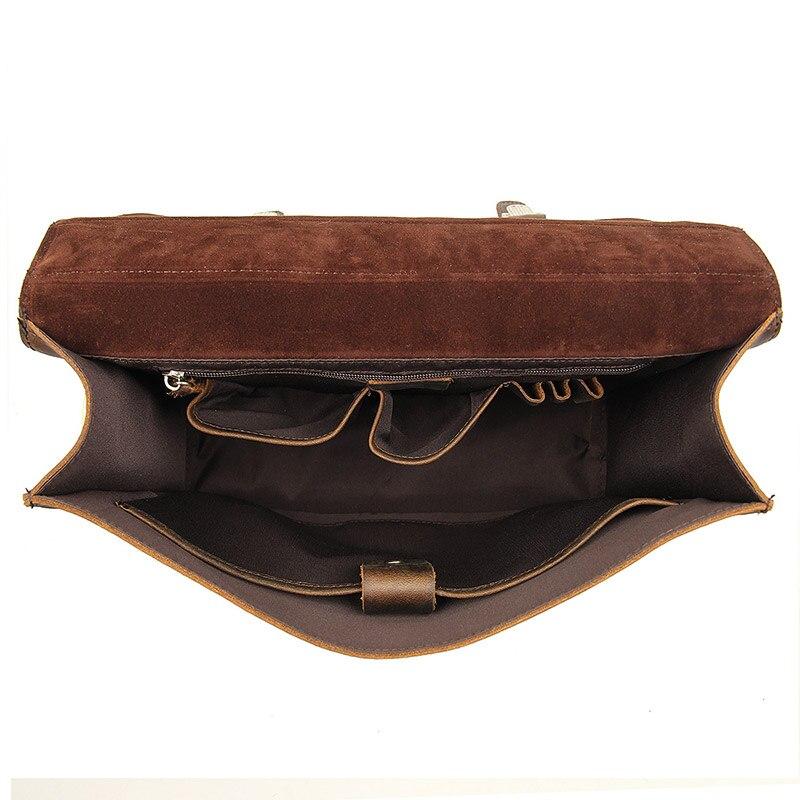 Nesitu, высокое качество, винтажный коричневый, толстый, натуральная, Crazy Horse, кожа, 14 дюймов, для ноутбука, мужской портфель, портфель, мужская сумка, M7223 - 5