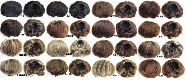 1a6085c1bd6ab Sintética elástica noiva coque peruca de cabelo Chignon rolo rabo de cavalo  postiços 34 tipos de