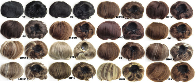 Synthetic Elastic Bride Hair Bun Wig Hair Chignon Roller Ponytail Q9