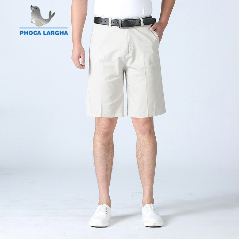 Summer New Short Pants Men's Fashion Business Solid Color Short Trousers  Male Loose Casual Straight Shorts Men Plus Size 29 42 Casual Shorts  -  AliExpress