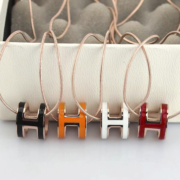 high quality 316 stainless steel h letter pendant necklace for women (1)