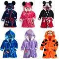 Nuevos Niños Pijamas Robe Kids cartoon tiger mameluco Pijamas ropa de los niños niñas Minnie Micky Albornoces bebé de la Historieta Home Desgaste