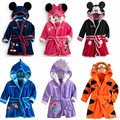 new Children Pajamas Robe Kids cartoon tiger romper Pajamas clothes boys girls Micky Minnie Bathrobes baby Cartoon Home Wear