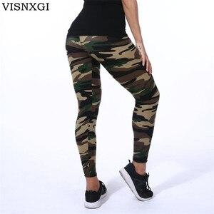 VISNXGI عالية الجودة النساء طماق مرونة عالية نحيل التمويه يغطي الرجل الربيع الصيف التخسيس النساء الترفيه Jegging السراويل
