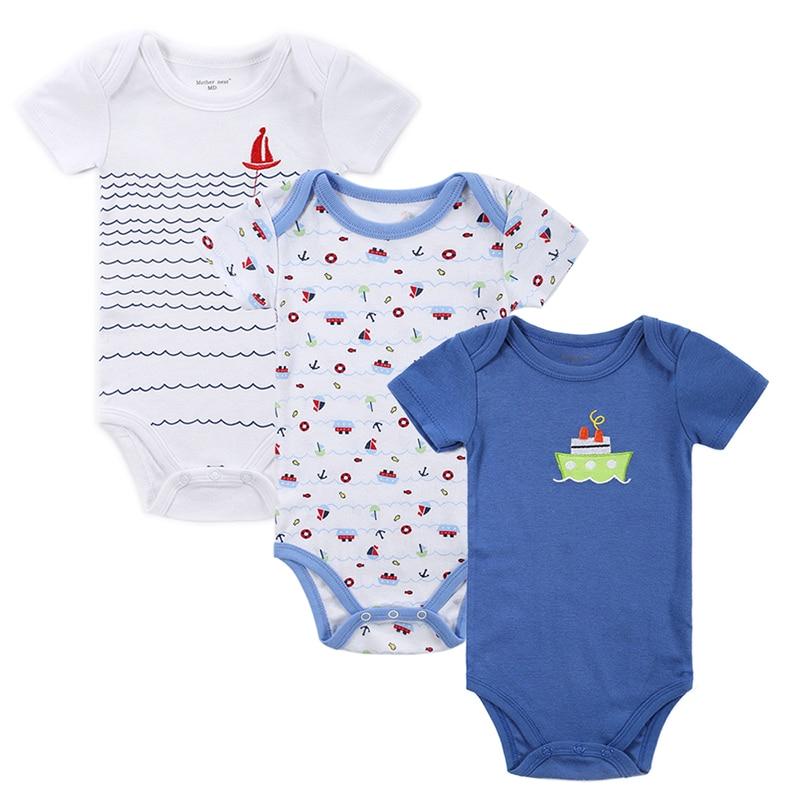 Mother Nest 3 Pieceslot Fantasia Baby Bodysuit Infant Jumpsuit Overall Short Sleeve Body Suit Baby Clothing Set Summer Cotton (1)