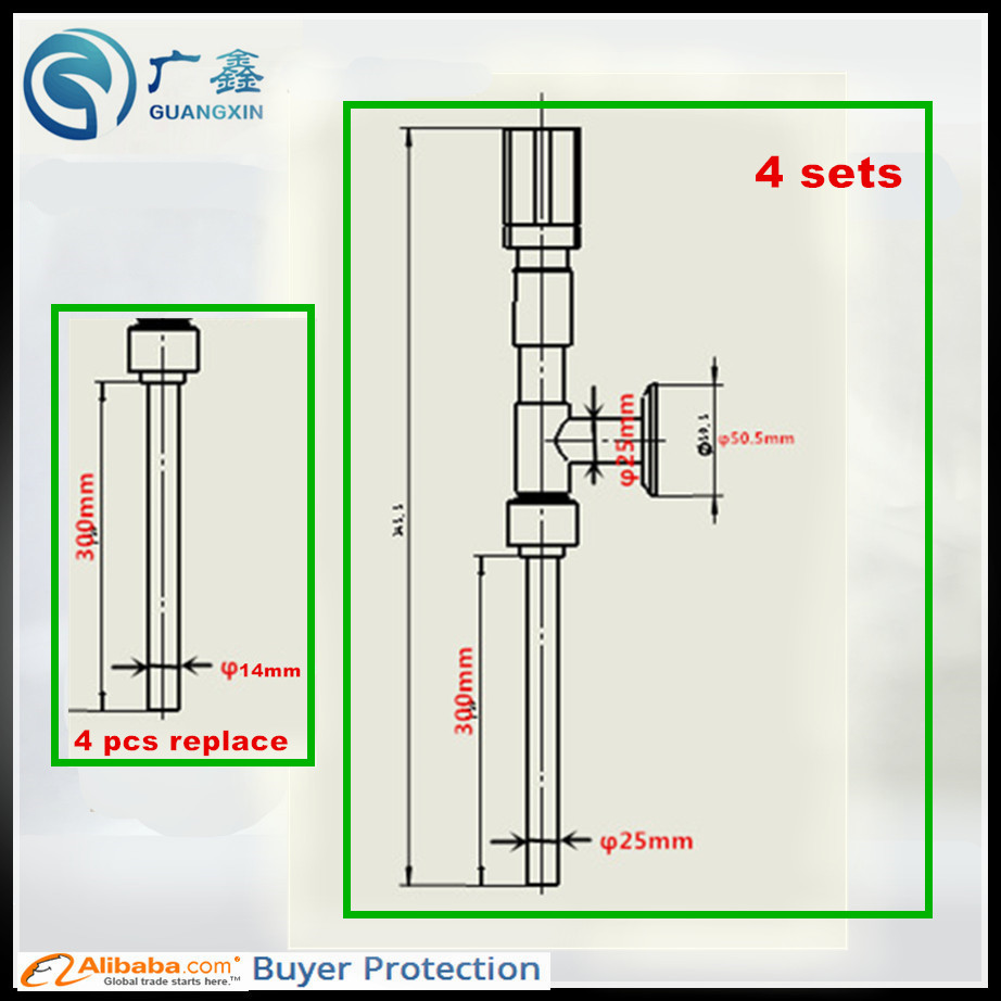 free shipping filling nozzle of filling machine pneumatic 25 300mm 4set and with [ 922 x 922 Pixel ]