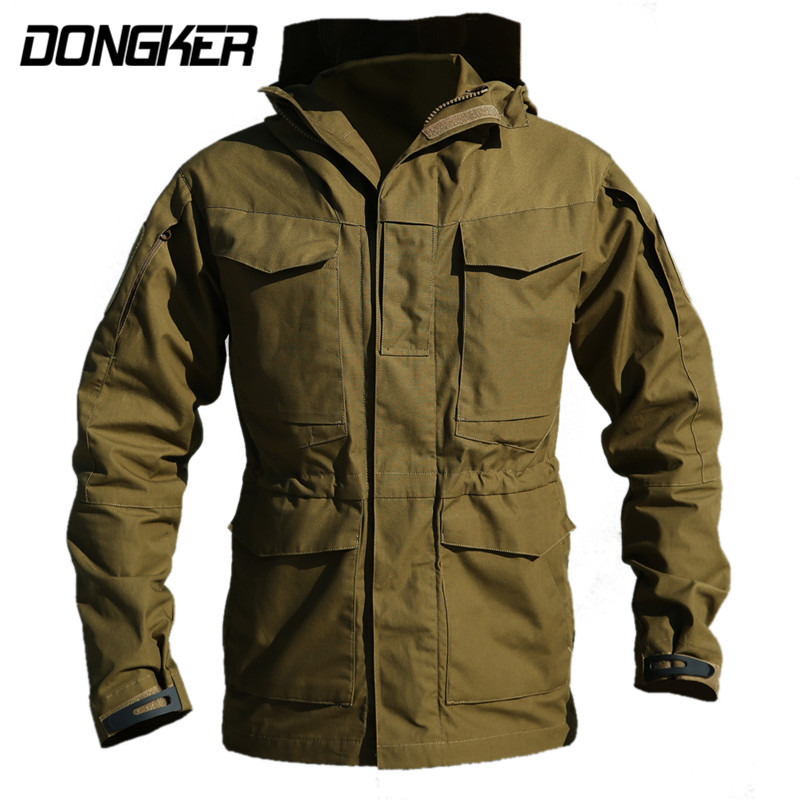 M65 Tactical Jacket Windbreaker Army Clothes Winter Waterproof Flight Pilot Coat Hoodie Outdoor Military Secret Hunting Jacket~ us army tactical military winter coat men outdoor thermal cotton airborne jacket for sports airsoft hunting shooting edc clothes