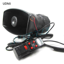 Newest 12V Car Auto Vehicle Truck 5 Sounds Alarm Siren   Horn PA System&Speaker Car Loud Horn/Siren Max Loud Alarm цена